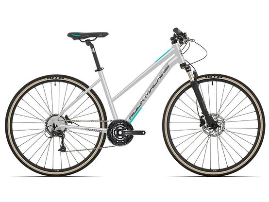 Rock Machine CrossRide 300 lady  gloss light grey/dark grey/mint 2021